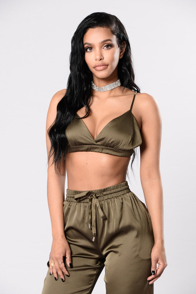The Girl In Your Dreams Bralette - Olive
