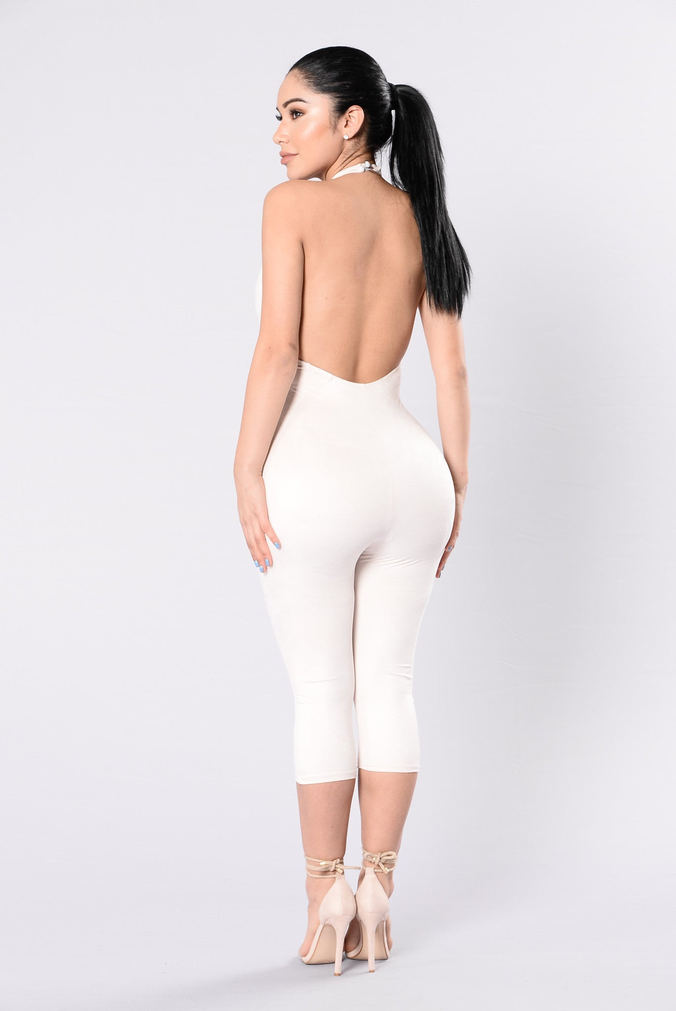 6b5393a09149 Shattered Glass Jumpsuit - Nude