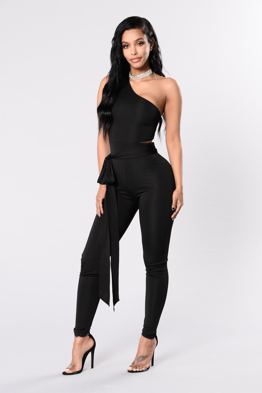 You Need To Cut It Jumpsuit - Black