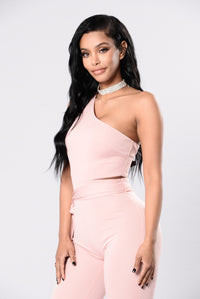 You Need To Cut It Jumpsuit - Blush