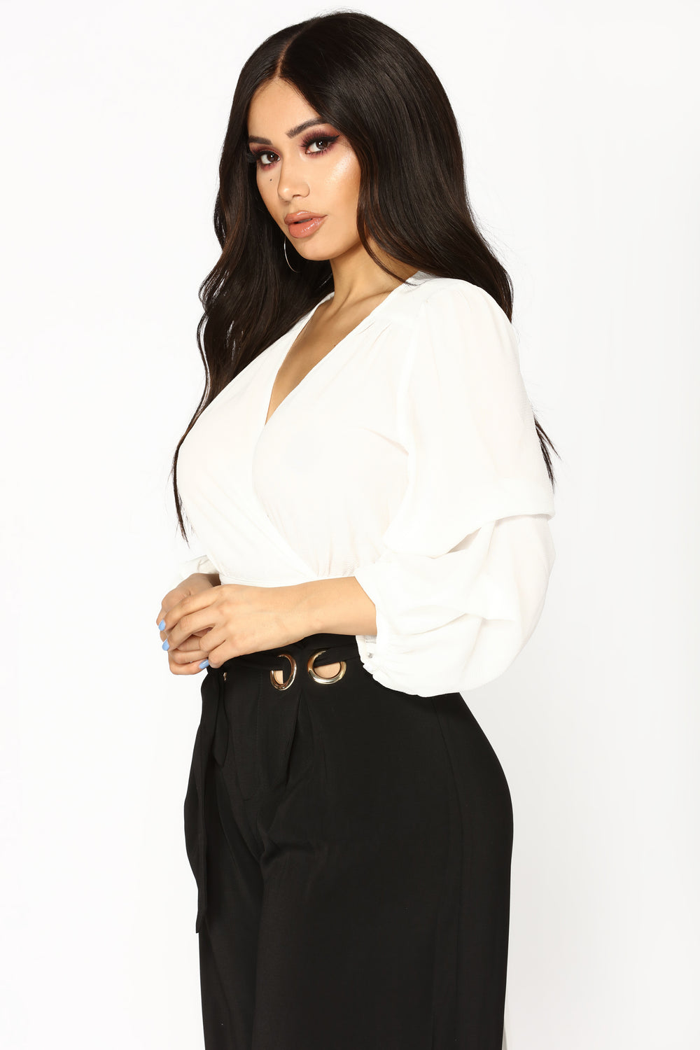 Thea Puff Sleeve Top - Ivory