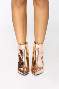Josie Metallic Bootie - Rose Gold