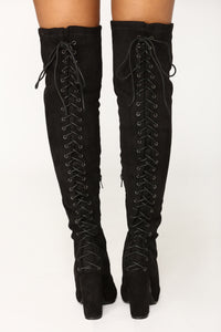Mackenzie Over The Knee Boot - Black