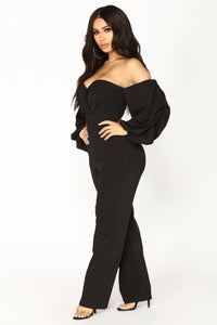 Ryana Off Shoulder Jumpsuit - Black
