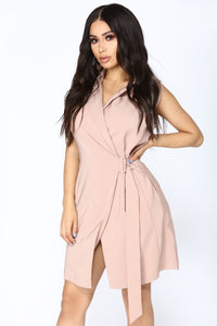 Agent Jacket Dress - Taupe