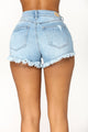 Sugar Beach Denim Shorts - Light Blue Wash