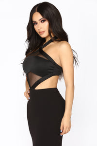 Don't Mesh Up Bodysuit - Black
