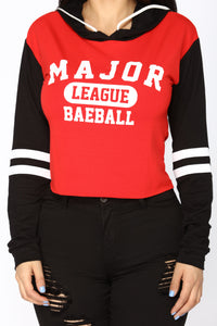 Major League Raglan Hoodie - Red