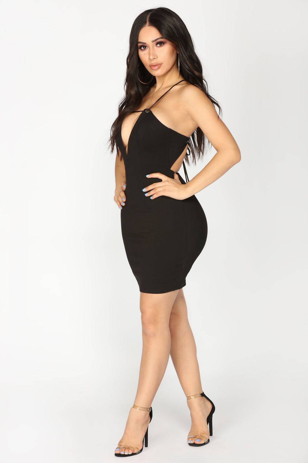 Him And I Mini Dress - Black