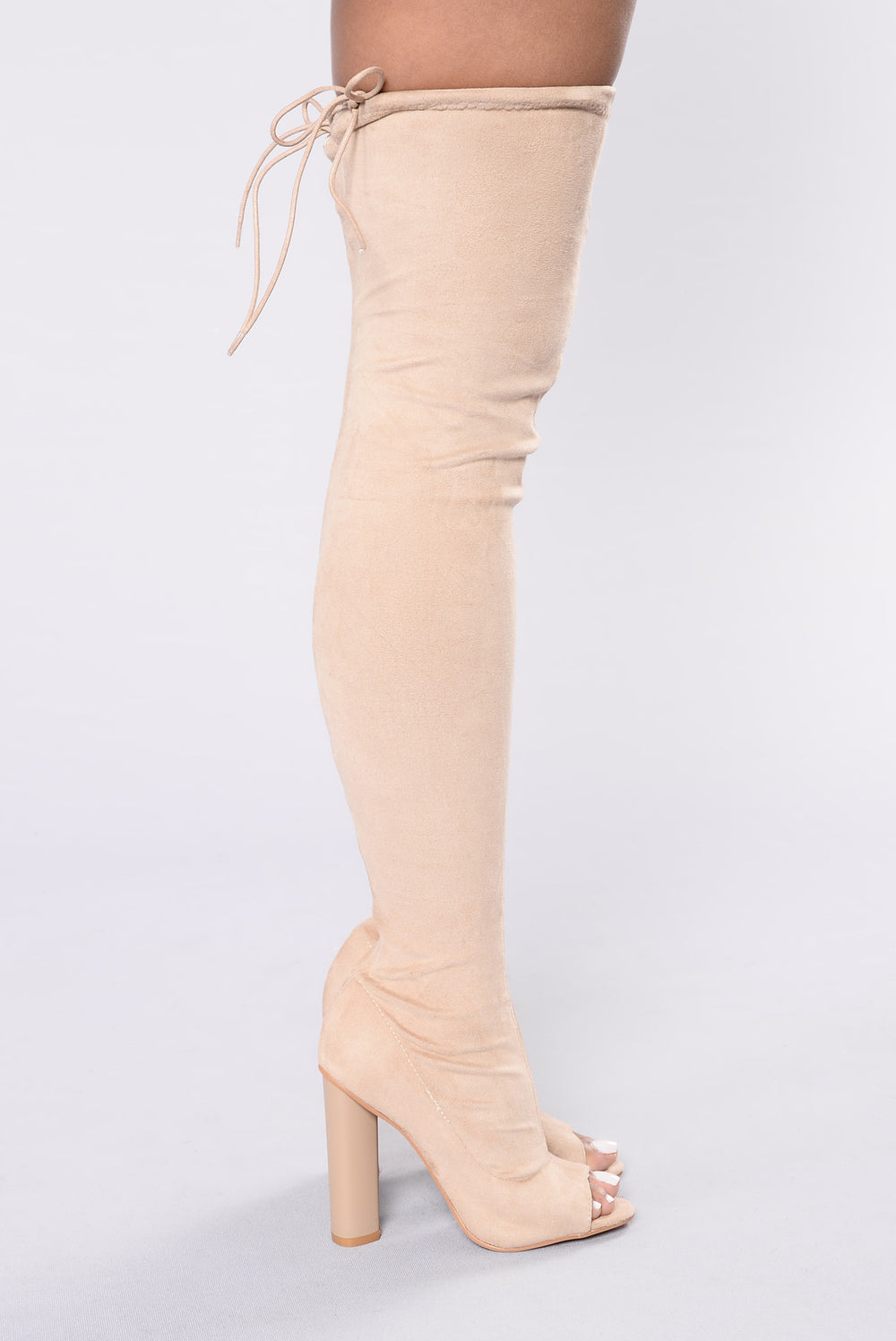 Pump It Up Boot - Nude