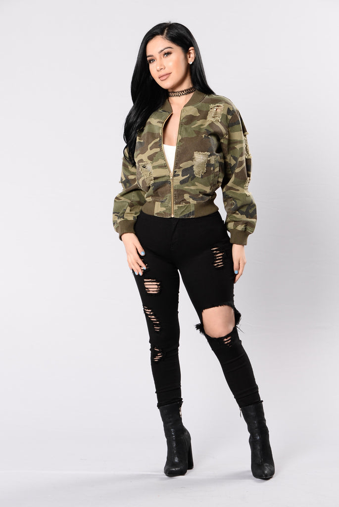 Camouflage In The City Jacket - Camo