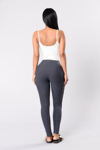 Teach Me Something New Leggings - Grey