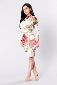 Walk In The Garden Dress - White