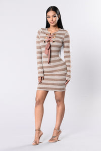 From Time Dress - Taupe