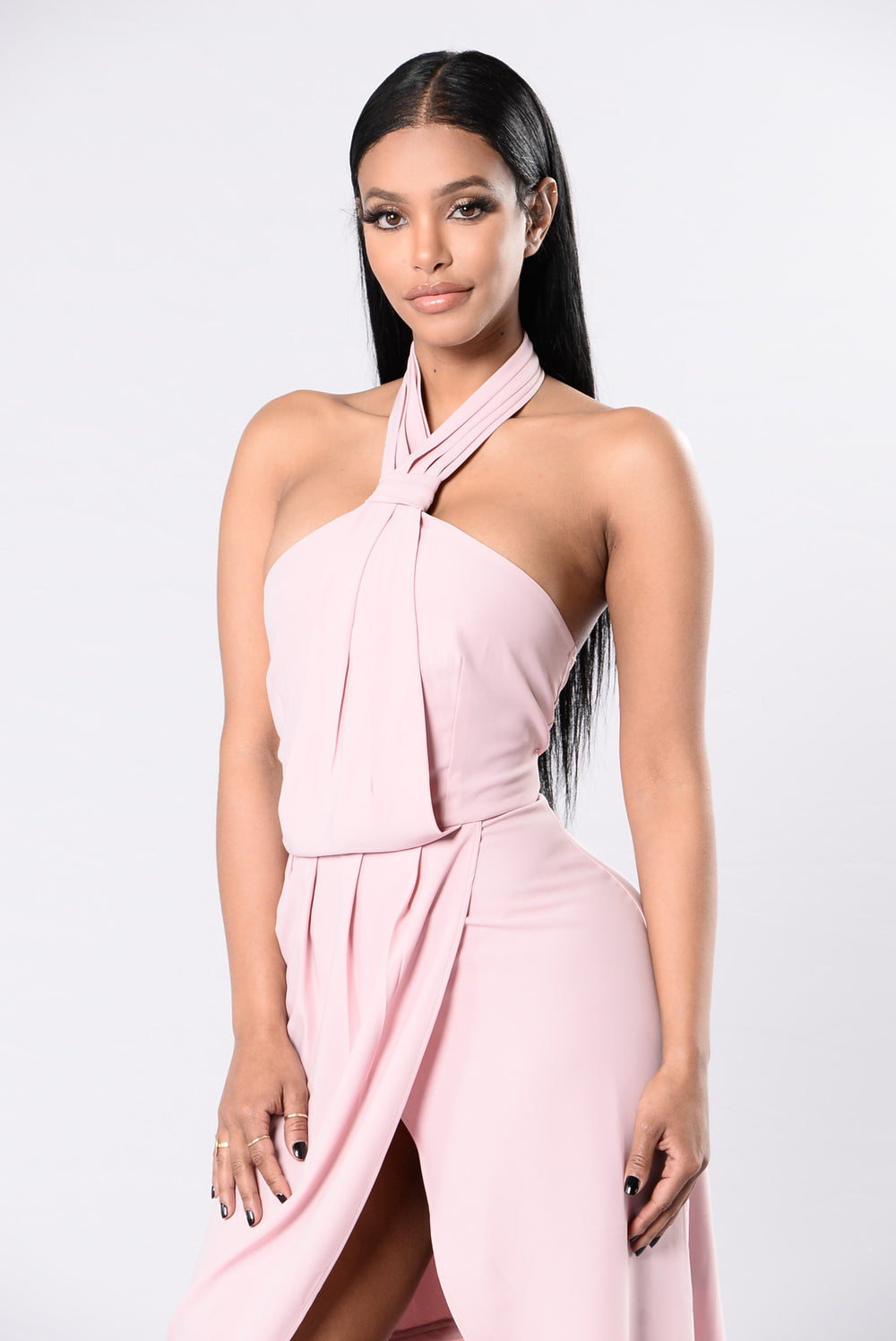 Knot Your Girl Dress - Mauve