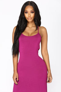 Put Your Love On Me Dress - Magenta