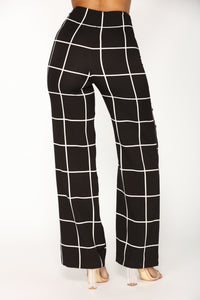 Keep Me Balanced Pants - Black/White