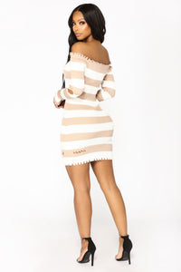 Need You Knit Dress - Taupe