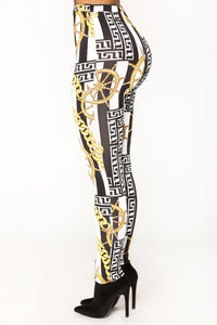 Vivianna Printed Leggings - MultiColor
