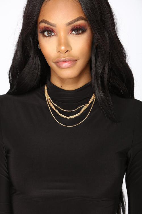A Few Levels Layered Necklace - Gold