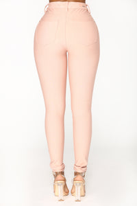 Oh Behave Ponte Pants - Rose