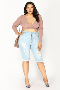 In Your Embrace Wrap Top - Blush