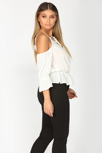 Lace It To Me Top - White