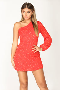 Dot Com Polka Dot Dress - Red