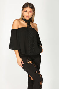 All Summer Long Top - Black