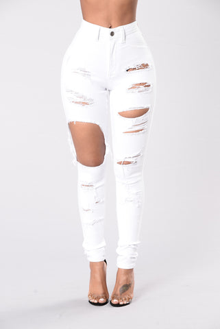 Haute Mess Jeans - White