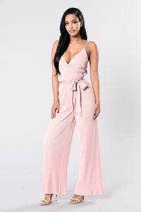 Switch Up On You Jumpsuit - Blush