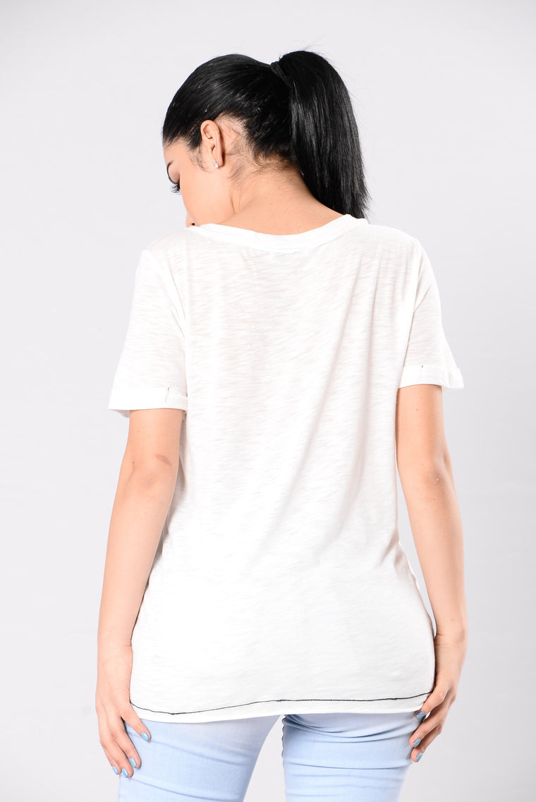 Lace Up Breakup Top - White
