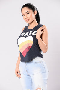 Love Not Hate Top - Navy