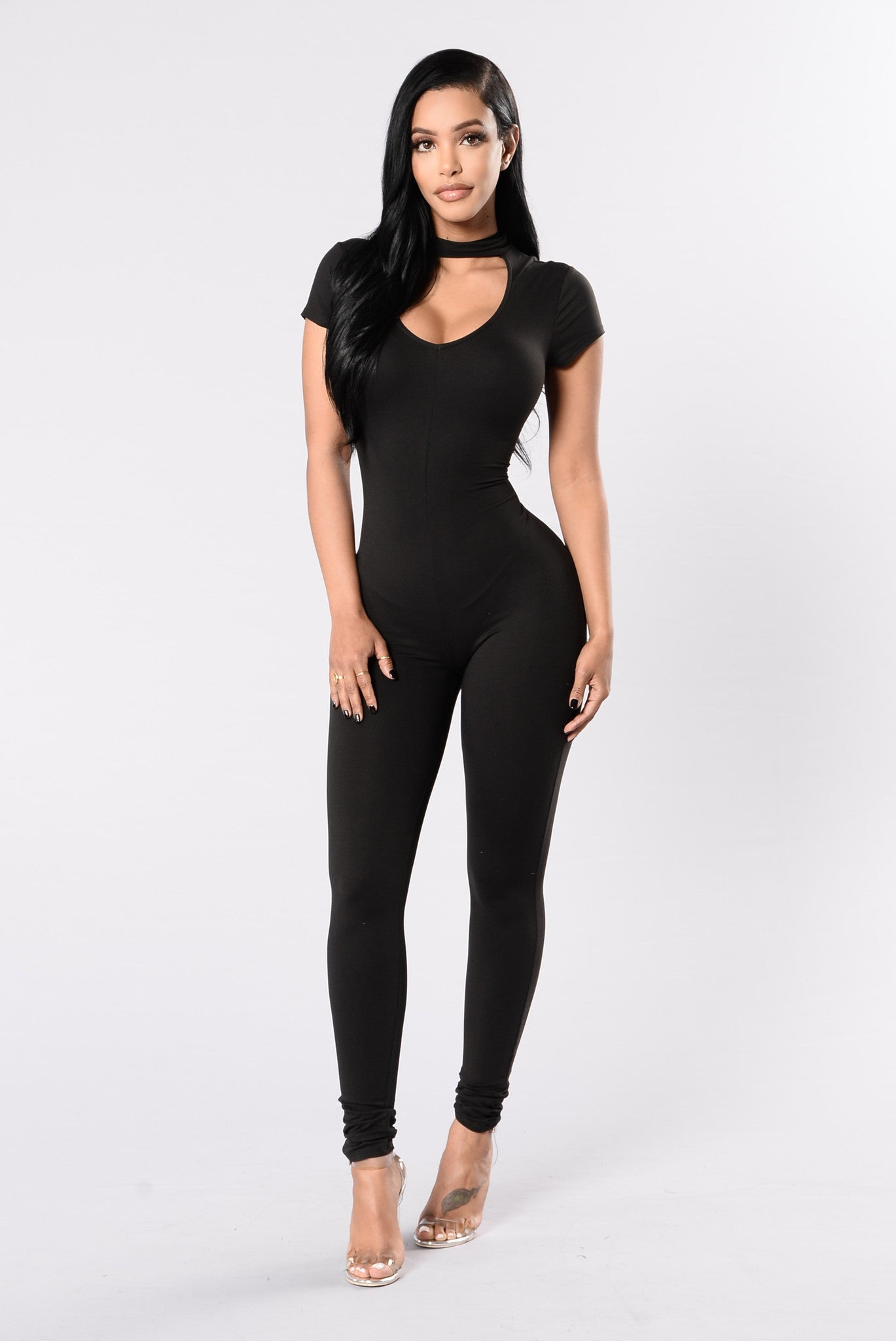 Keep It Easy Going Jumpsuit   Black