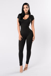Keep It Easy Going Jumpsuit - Black