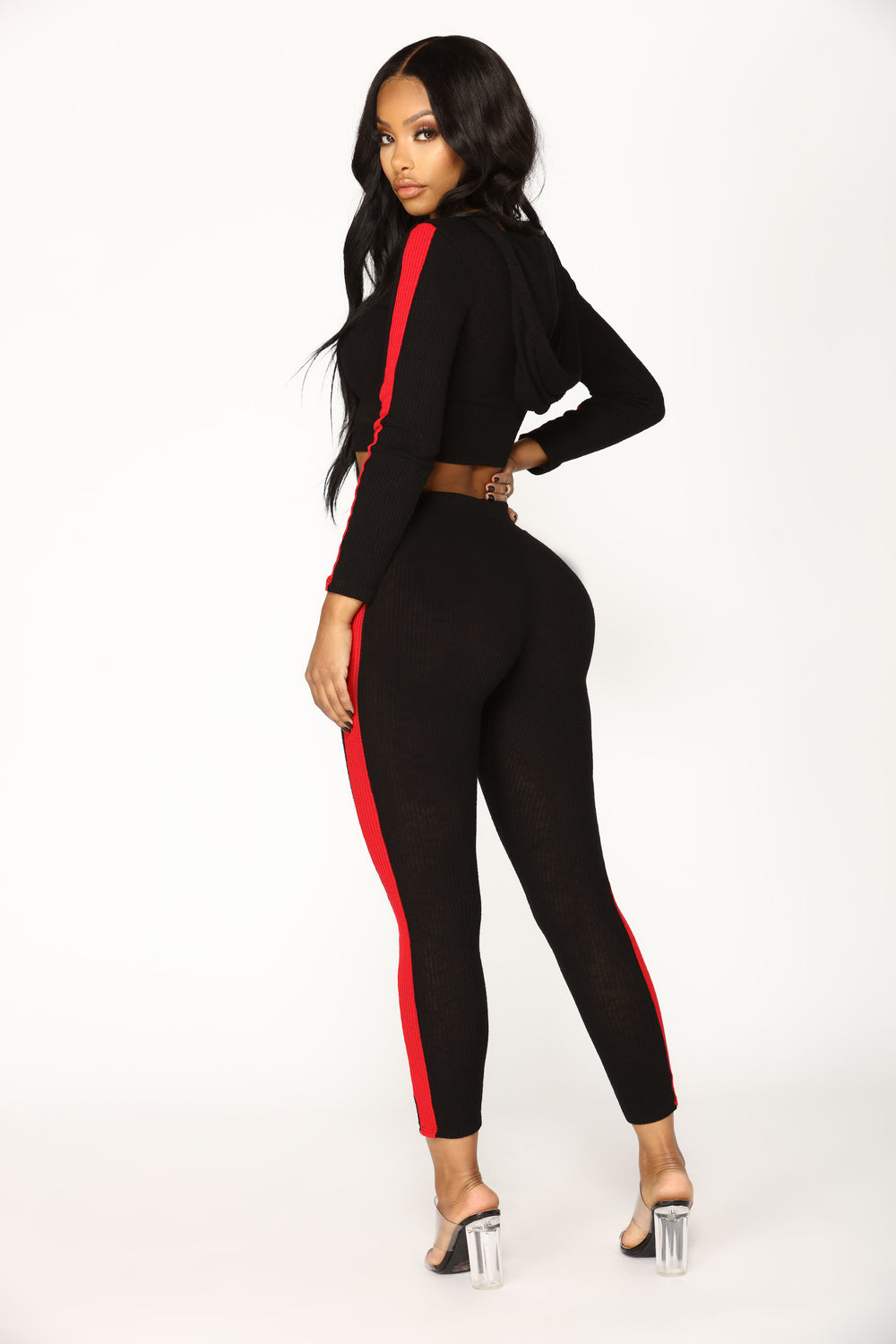 Track Star Active Bottoms - Black/Red