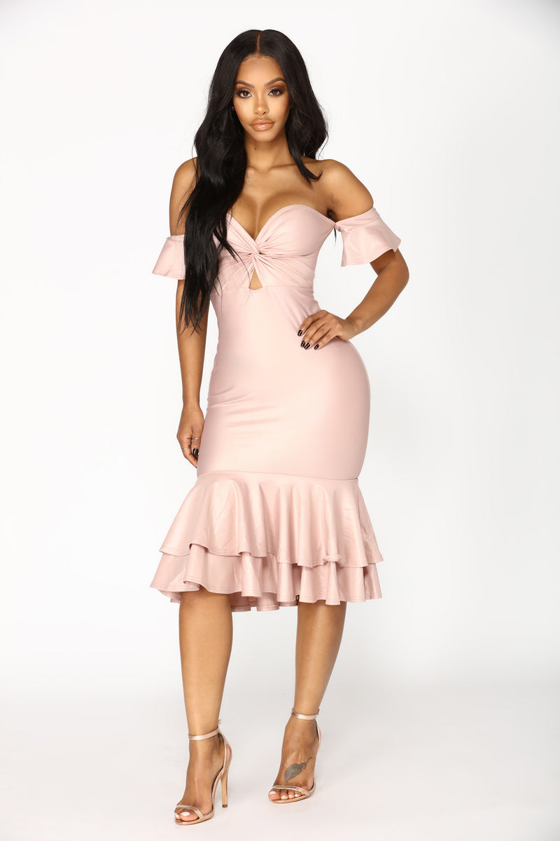 Deeper Than The Sea Mermaid Dress - Mauve
