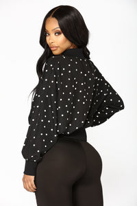 Spot On Jacket - Black/White