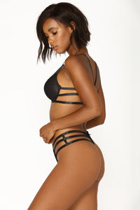 Strapped In 2 Piece Set - Black