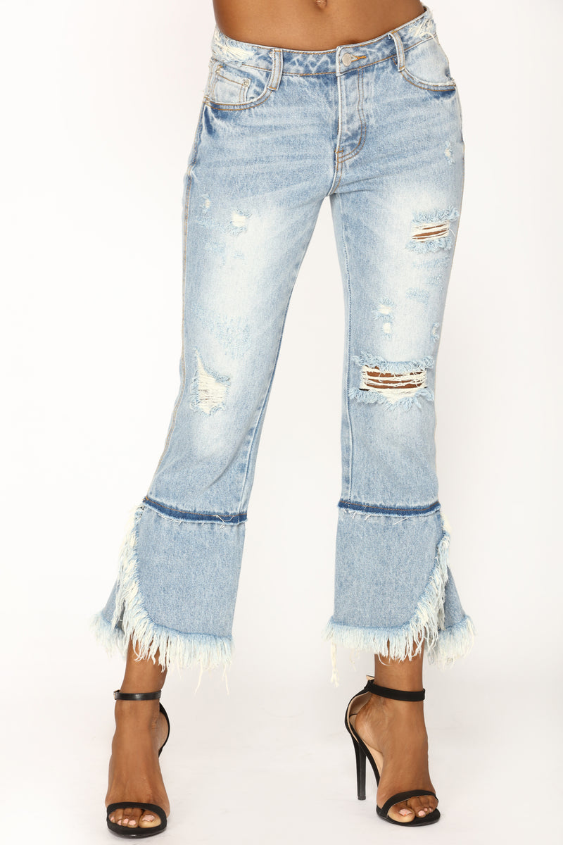 Girly Girl Boyfriend Jeans - Light Blue Wash