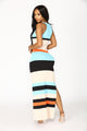 Pretty Fly Maxi Dress - Aqua/Combo