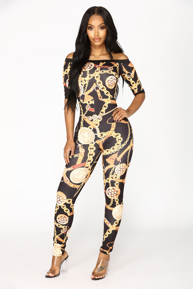 Chained To The Rhythm Jumpsuit - Black