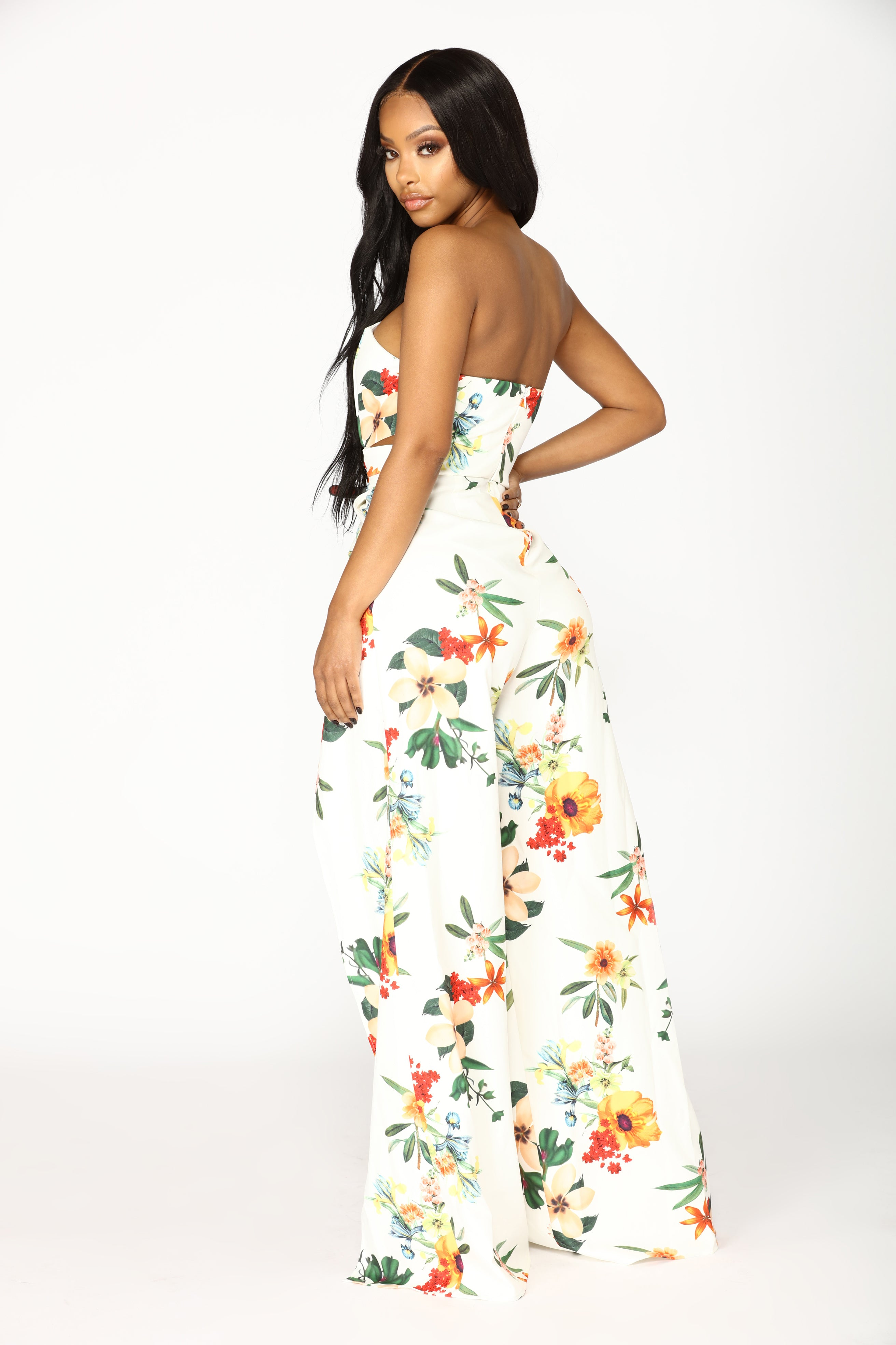 76d0f1c6fe5 Sun In The Sky Floral Jumpsuit - Ivory Multi