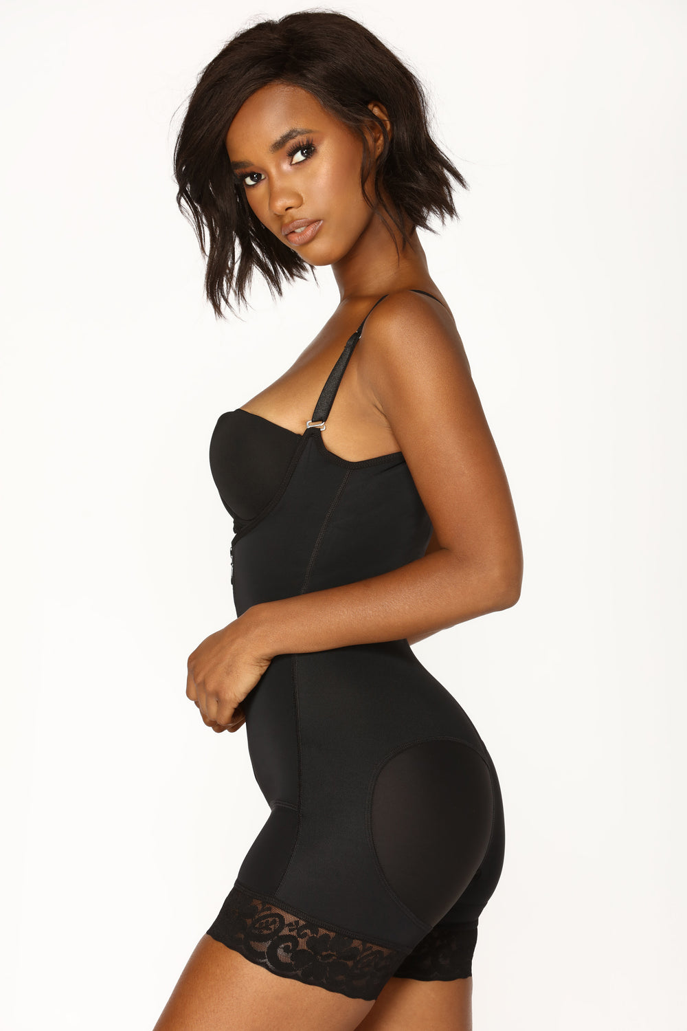 All The Right Places Shapewear Rompers - Black