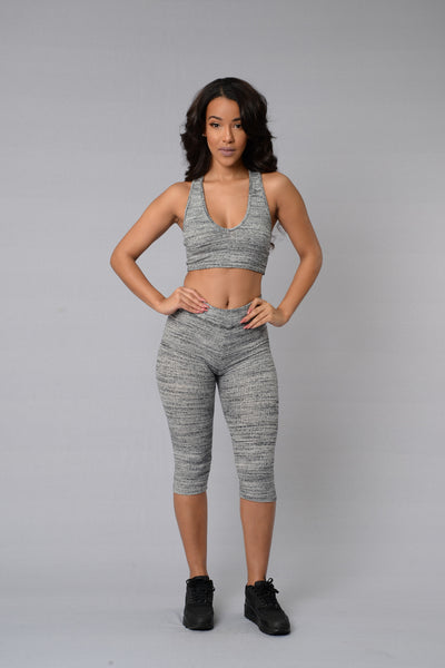 Bryant Crop Legging - Grey