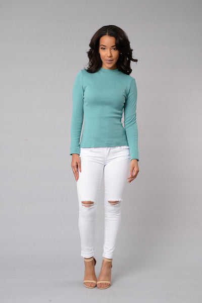 Sweet Disposition Top - Seafoam