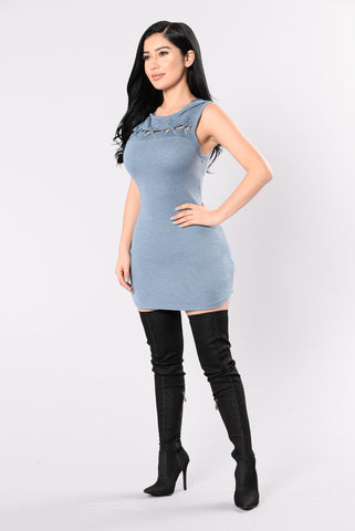 Booked All Week Tunic - Blue