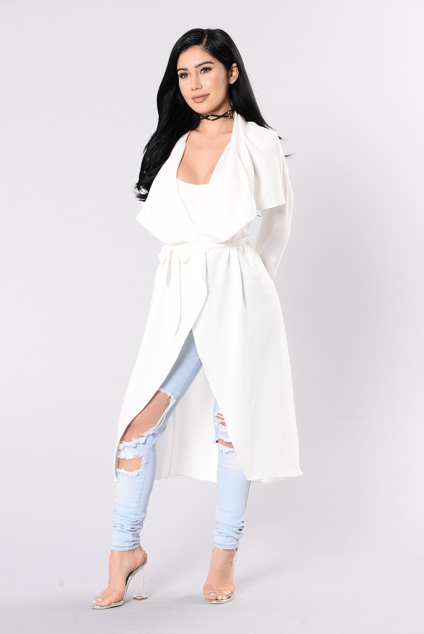 Business Casual Coat Off White