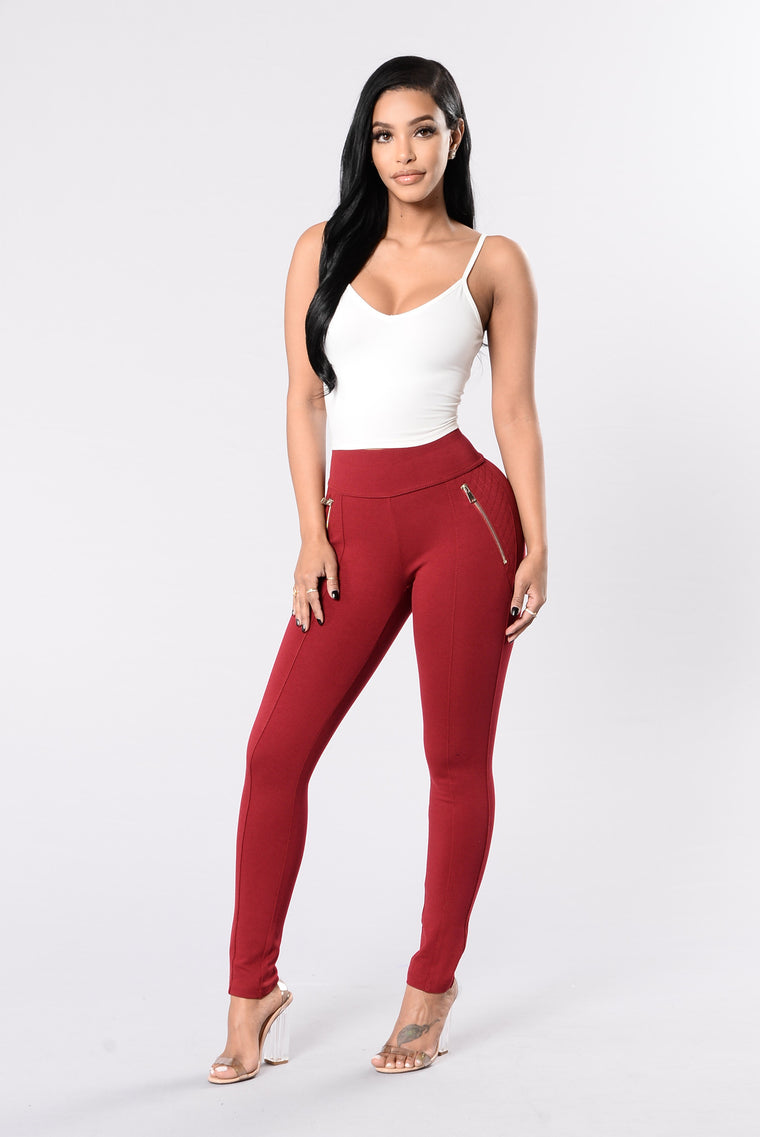Hollow Moon Pants - Merlot