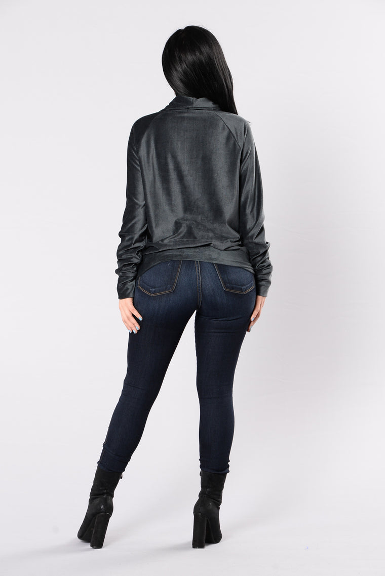 Crazy About You Sweater - Charcoal